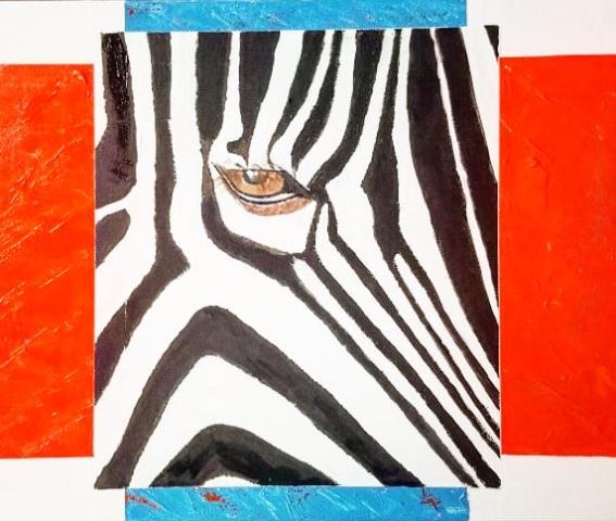 peinture oeil de zèbre