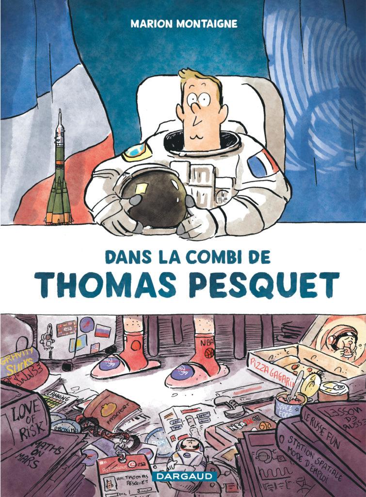 couverture livre Dans la combi de Thomas Pesquet