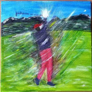 peinture golfeur