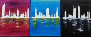 peinture skyline